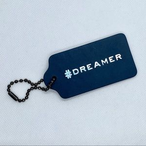 Leather Purse Hang Tag #dreamer from Coach.